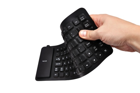 clr: black rubber  keyboard on white background