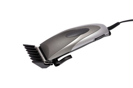 clippers comb: hair shaver on white background Stock Photo