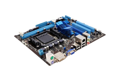 mainboard: motherboard    on a white background