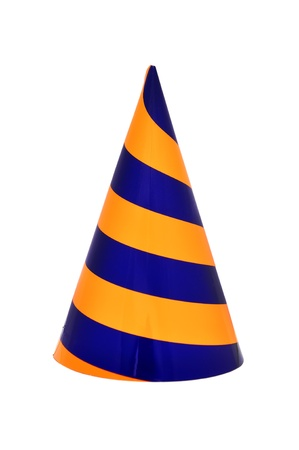 birthday hat: Party hat on a white background