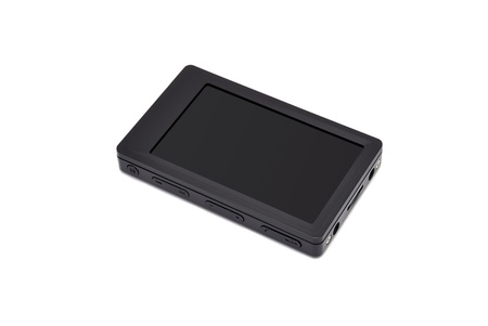 mp4: mp4 player with white background Stock Photo