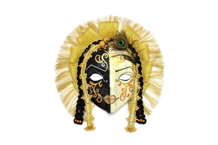 Venice mask on a white background photo
