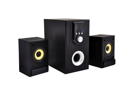 computer speakers on a white background photo