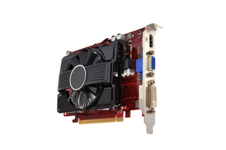 computer hardware: video card on a white background Stock Photo