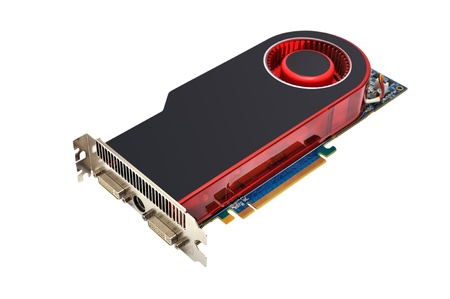 Computer graphic card on white background  photo