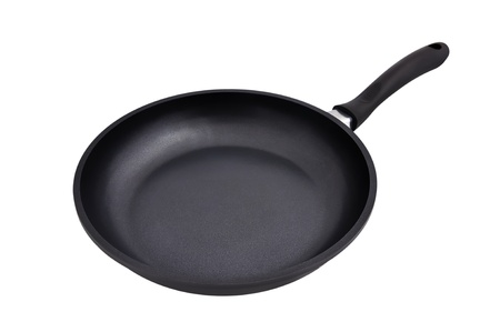 frying pan on a white background photo