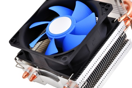 cpu cooler on a white background photo
