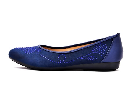 outsole: blue slipper on a white background
