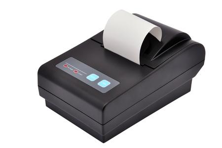 Black printer for fiscal cash register and check Zdjęcie Seryjne