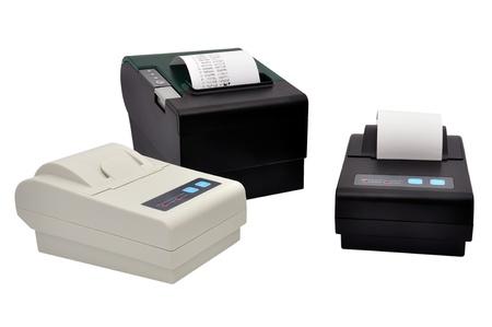 three printer for fiscal cash register and check Фото со стока