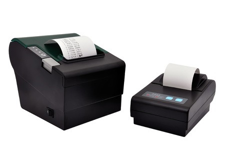 two printer for fiscal cash register and check 写真素材