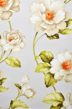 floral pattern on canvas texture Stock Photo - 14261209