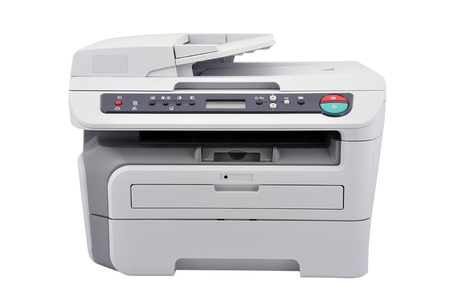 Copier on a white background