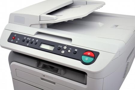 white copier on a white background photo