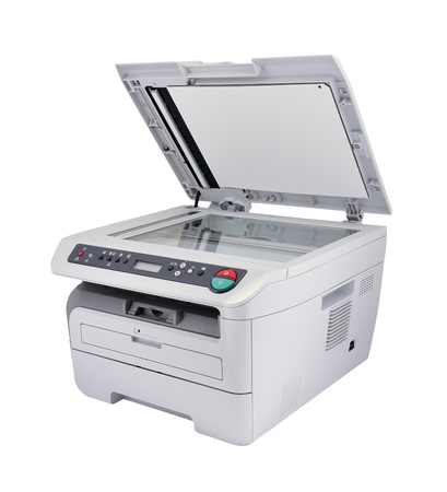 photocopy: scanner on a white background