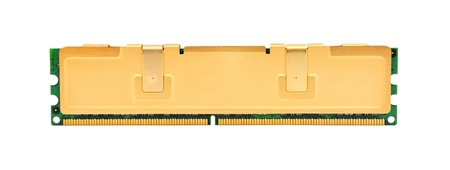 ddr3: gold ram on a white background
