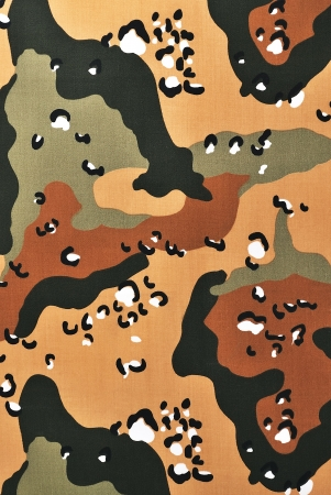 Closeup camouflage fabric in a vertical orientation photo