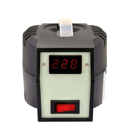 voltage gray: black voltage regulator on a white background