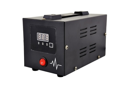 voltage regulator on a white background