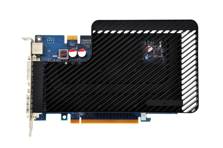 s video: graphics card with a black radiator