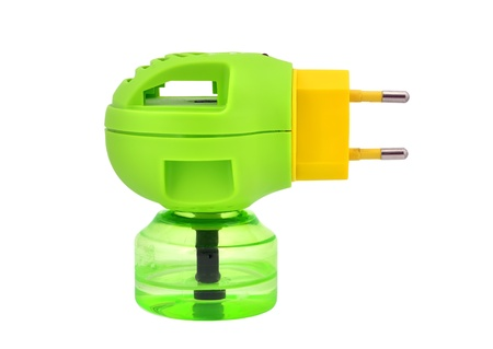 repellant: fumigator green on a white background