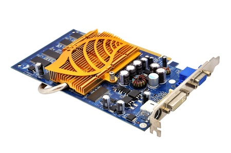 s video: video card  on a white background
