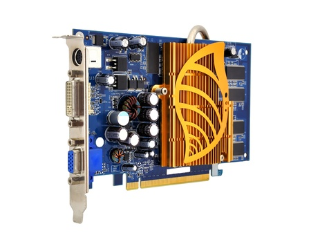 s video: graphics card  on a white background