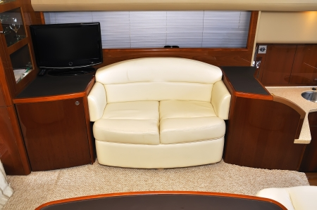 interior of yacht. close up