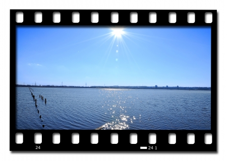 frames of film water landscape photo