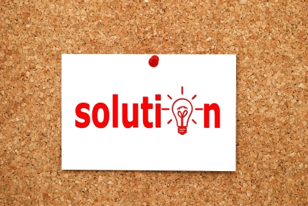 Note solution on cork  board Stock Photo - 15330195