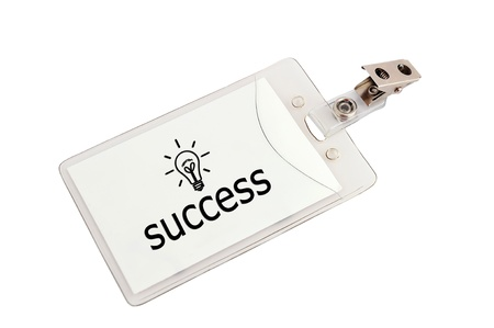 success badge on a white background Stock Photo - 15523173