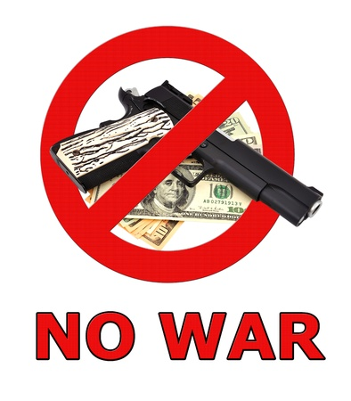 no war: sign no war on a white background Stock Photo