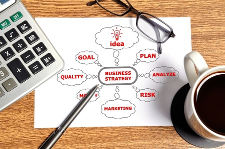 Note business  strategy on table businessman Stock Photo - 15548299