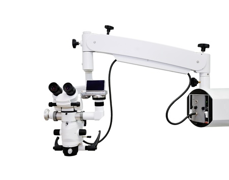 white dental microscope with camera photo