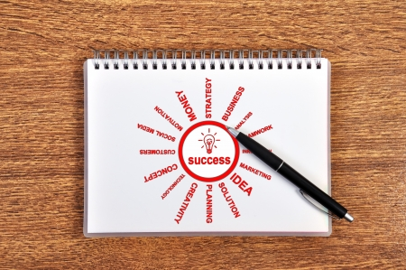 scheme success in notebook and pen Stock Photo - 15805506