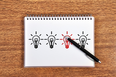 idea concept in notebook and pen Stock Photo - 15805505