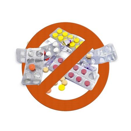 no drugs icon on white background Stock Photo