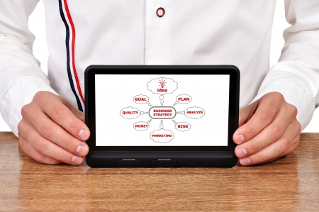 plan business strategy on digital tablet Stock Photo - 15924227