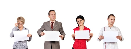 people are holding empty posters Stock Photo - 16192679