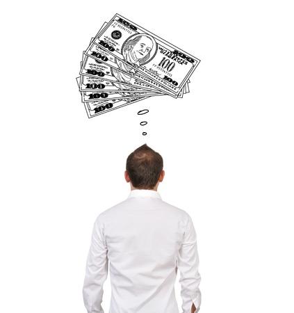 businessman dreaming on money, closeup Stock Photo - 16307779