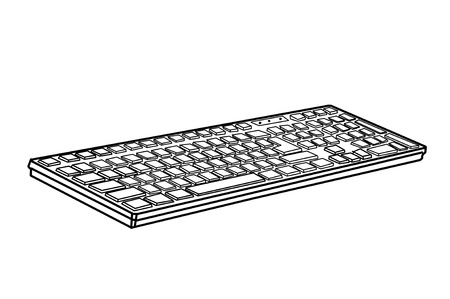 clr: drawing black keyboard on white background