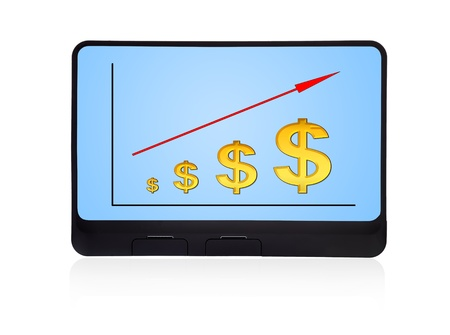 scheme growth dollar on digital tablet Stock Photo - 16538683