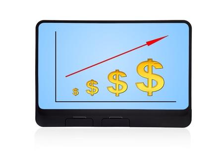 scheme growth dollar on digital tablet Stock Photo - 16538683