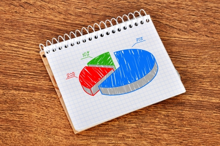 pie scheme growth profits in notebook Stock Photo - 16567137