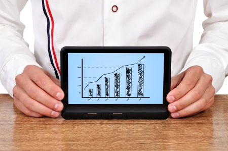 scheme growth profits on touchpad photo