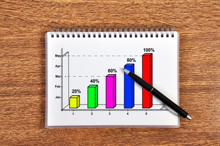 scheme growth profits in notebook Stock Photo - 17689897