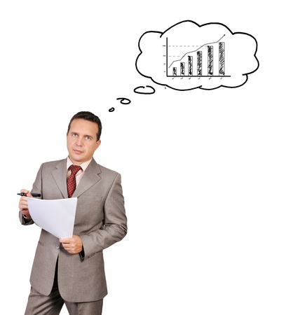 businessman dreams of growth charts Stock Photo - 17576867