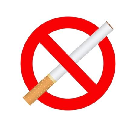 sign no smoking  on white background Stock Photo - 17689859