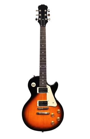 白い背景上に分離されて美しいのエレク トリック ギター