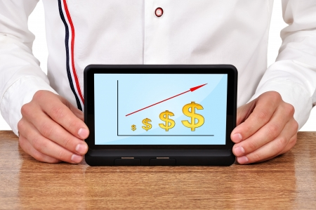 plan business strategy on digital tablet Stock Photo - 18172437